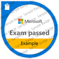 Exam example badge