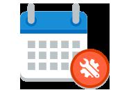 Icône Publication et support. Découvrir les conditions de publication et de support technique des produits Microsoft