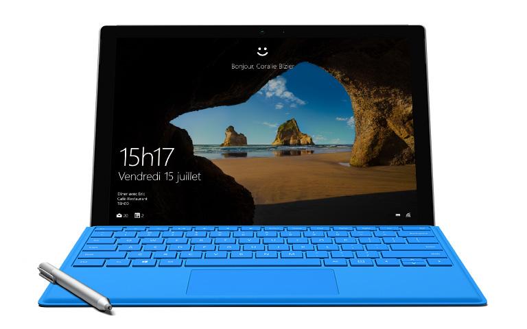 Windows Hello sur une Surface Pro4