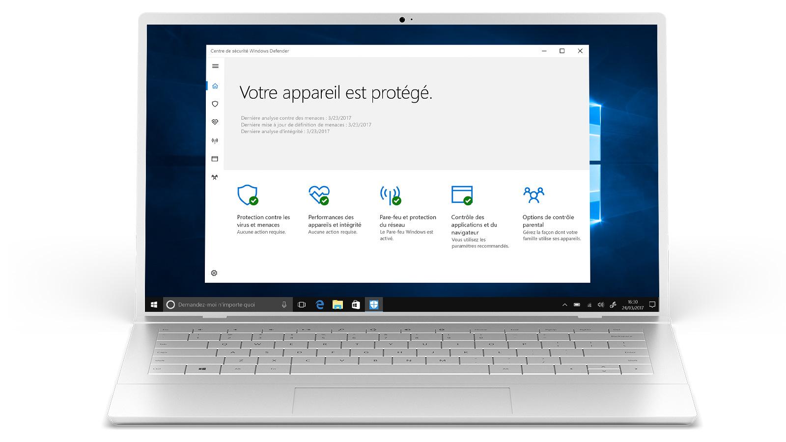 Sécurité de Windows10