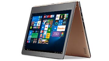 Un appareil 2-en-1 Windows en position chevalet avec écran de démarrage Windows