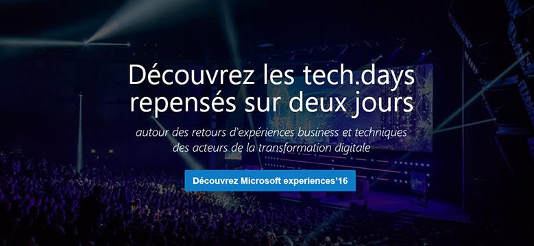 Découvrez Microsoft experiences'16