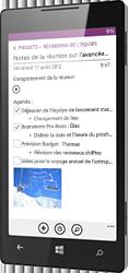 OneNote pour Windows Phone