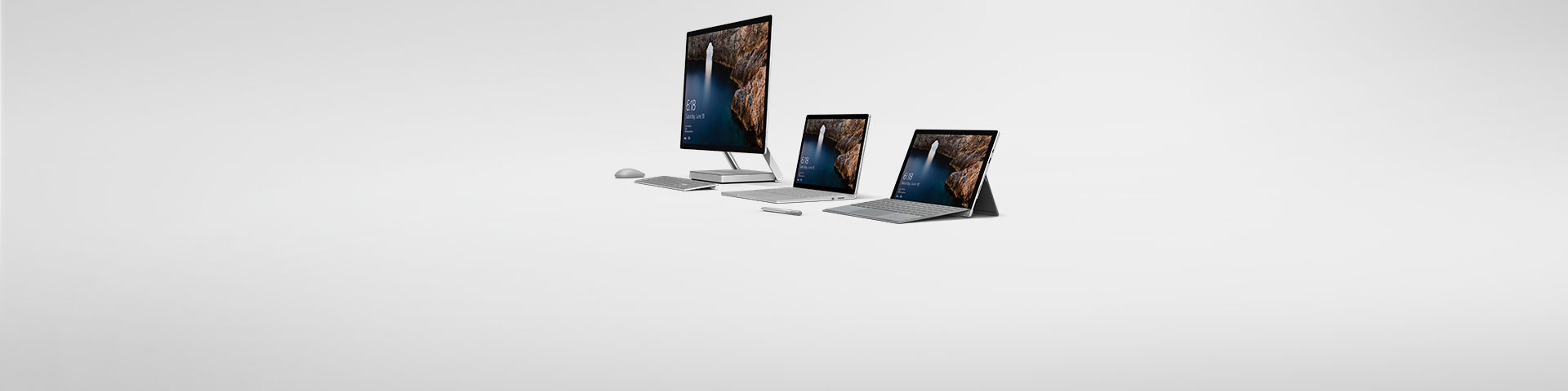 Three Surface devices