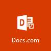 סמל Docs.com, פתח את Docs.com כדי להעלות מסמכים ללא תשלום