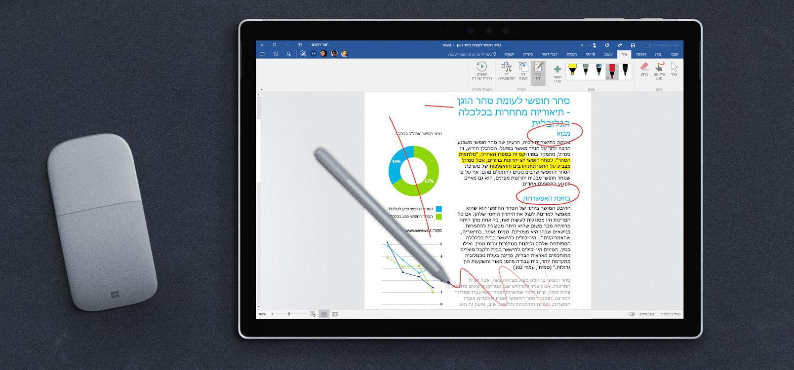 מסך Tablet המציג את 'ממיר דיו'