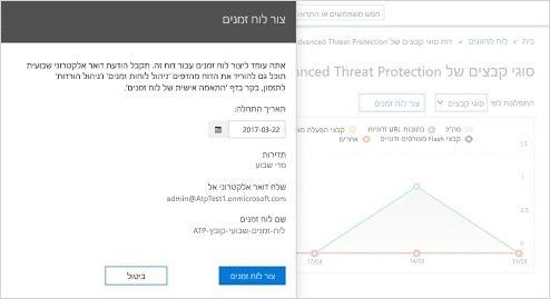 תקריב של דוח בזמן אמת עבור הודעות דואר אלקטרוני שהתקבלו ב- Exchange Online Protection.