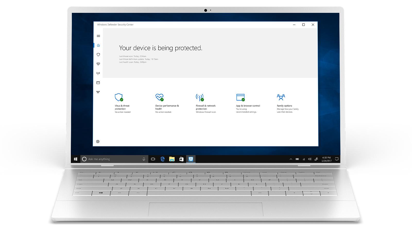 אבטחת Windows 10