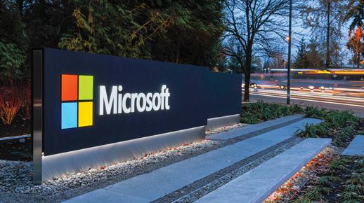סימן מהקמפוס של Microsoft