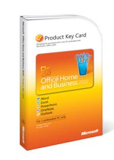Office 2010 उत्पाद कुंजी कार्ड