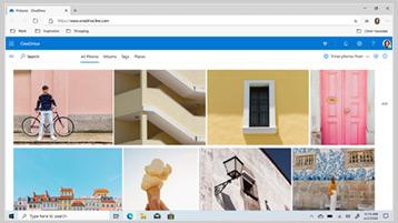 Datoteke na servisu OneDrive prikazane na zaslonu