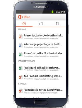 Vaš mobilni sustav Office
