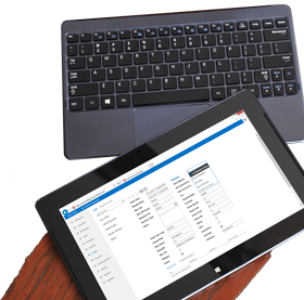 Snimka zaslona prikaza popisa u aplikaciji za bazu podataka u programu Access 2013.
