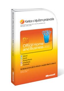 Kartica s ključem proizvoda za Office 2010