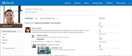 Snimka zaslona sažetka sadržaja vijesti sustava SharePoint s prikazanom mogućnošću Omogućivanje zajedničkog korištenja sa svima.
