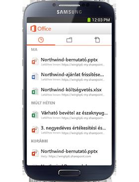 Az Ön mobil Office rendszere