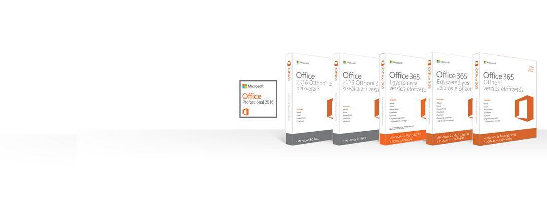 Office-termékek kezelése, letöltése, biztonsági mentése, illetve visszaállítása