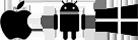 Az Apple, az Android és a Windows emblémája