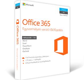 Office 365 Egyszemélyes verzió