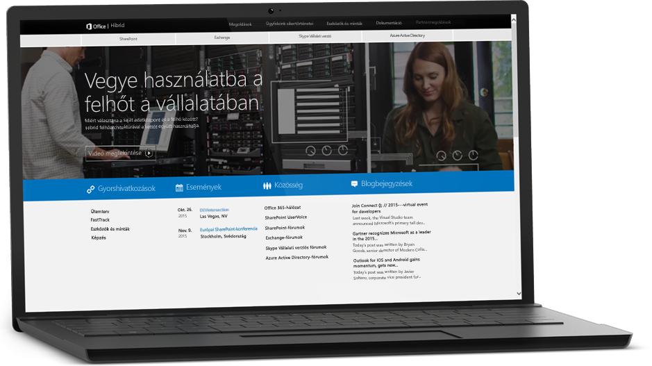 Laptop, amelynek a képernyőjén egy weblap látható