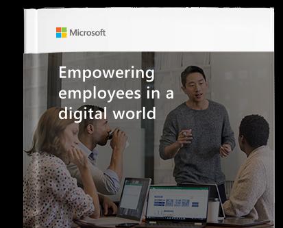 Az alkalmazottak lehetőségeinek kiszélesítése a digitális világban című e-könyv első oldala