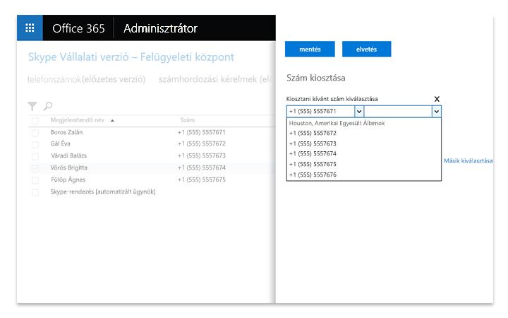 A Skype Vállalati kiszolgáló felügyeleti eszközeit megjelenítő laptopképernyő
