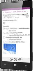 OneNote Windows Phone rendszerhez