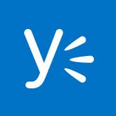 A Yammer emblémája; információk a Yammer mobilappról a lapon belül