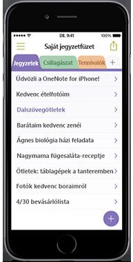OneNote iPhone-készülékekhez