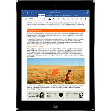Office iPad készülékekhez