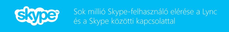 A Lync és a Skype közötti kapcsolat