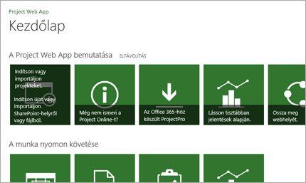 A Microsoft Project használatának gyors megkezdése