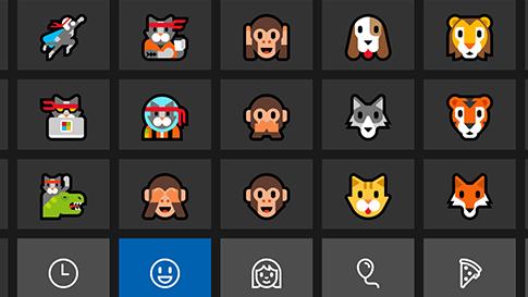 Windows 10-es emojibillentyűzet