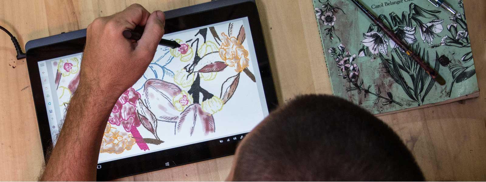 A Windows Ink egy tablet módban üzemelő Lenovo Yoga-készüléken