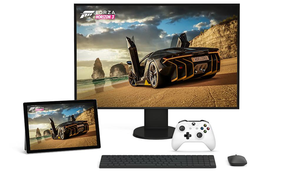 A Forza Horizon 3 képernyője Windows 10-en