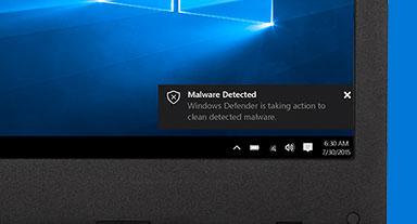 """Képernyő, amelyen a """"Kártevő észlelve"""" értesítés olvasható"""