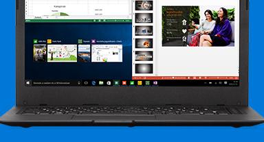 Laptop Microsoft Edge böngészővel a képernyőn