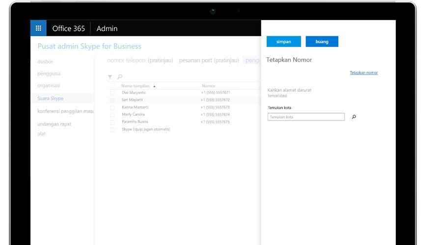 Panggilan Microsoft Teams diperlihatkan pada telepon seluler dan tablet
