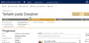 Gambar halaman peluang penjualan di Microsoft Dynamics CRM Online.