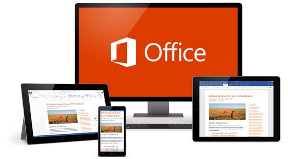Office di berbagai perangkat