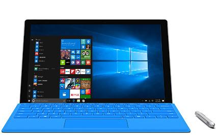 Microsoft Surface Pro 4 con penna