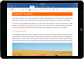 iPad con un'app di Office