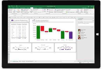 Screenshot della pagina Condividi di Excel con l'opzione Invita persone selezionata.