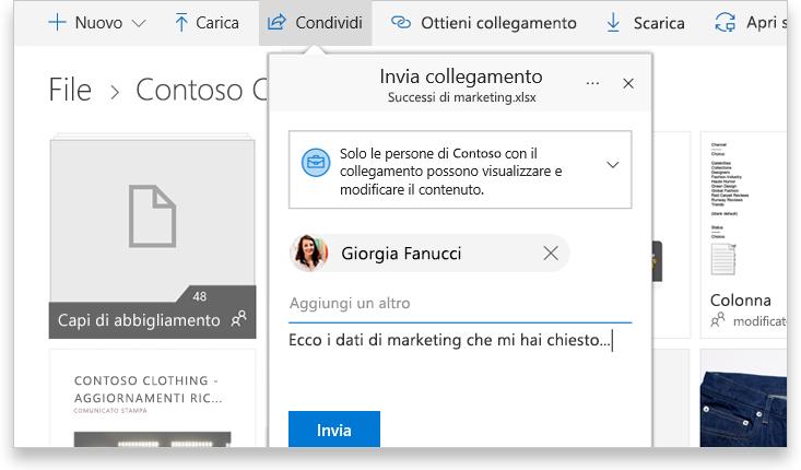 Tablet che visualizza due persone che collaborano online a un documento di Word