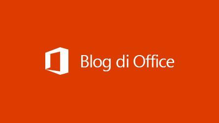 Logo dei blog di Office, leggi l'articolo sull'archiviazione di dati di terze parti in Office 365