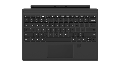 Cover con tasti per Surface Pro 4 con ID impronta digitale.