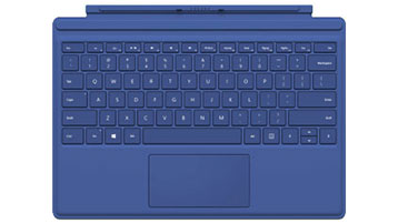 Cover con tasti per Surface Pro 4 (blu)