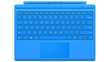 Cover con tasti per Surface Pro 4 (blu brillante)