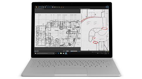 Surface Book 2 con schermo PixelSense™ da 13,5 pollici e processore Intel® Core™ i5-7300U per il modello da 13,5 con i5