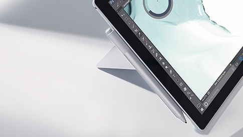 Primo piano della Penna per Surface e di con Surface Pro